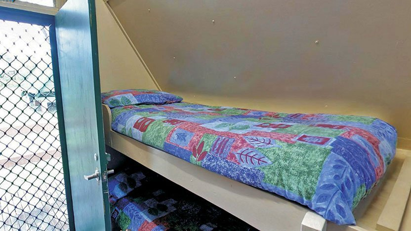 a-frame-cabin-bunks-front